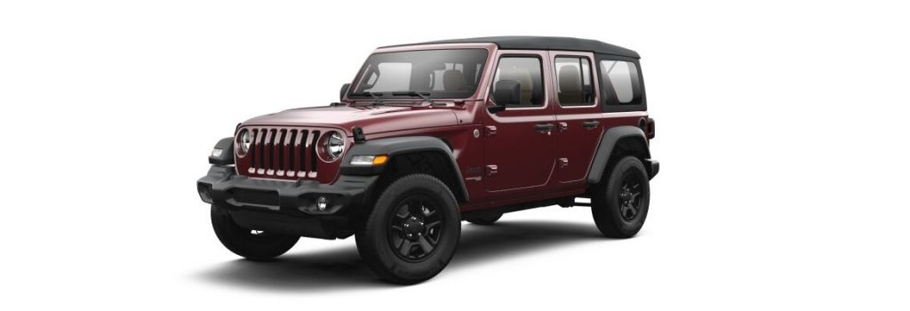 Snazzberry Pearl 2021 Jeep Wrangler on White Background