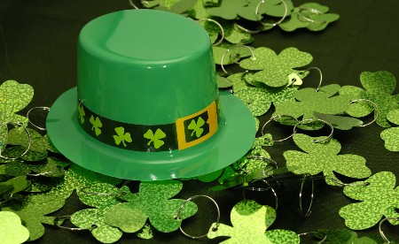 St. Patrick's hat with clovers