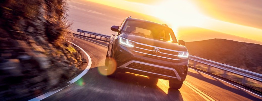 The 2021 VW Atlas on the road.