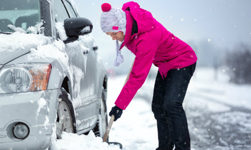 Tips to remove a Toyota vehicle from snow