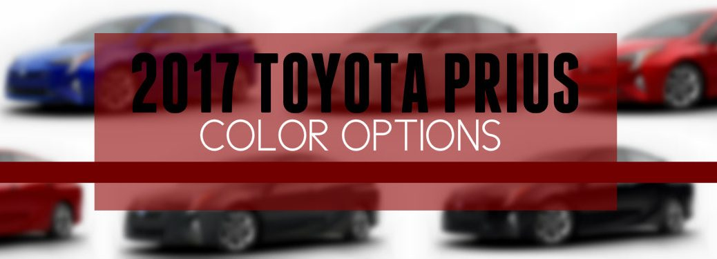 2017 Toyota Prius new Color Options