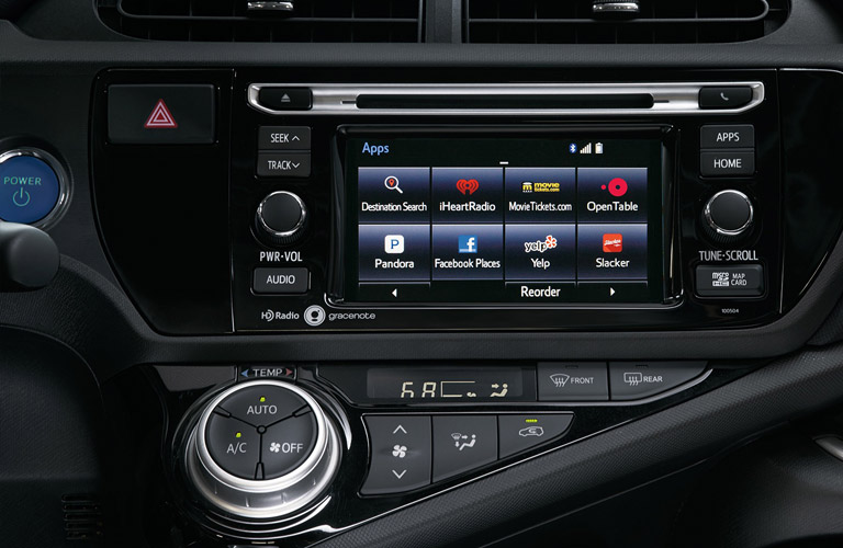 First row LCD touchscreen Apps 2017 Prius
