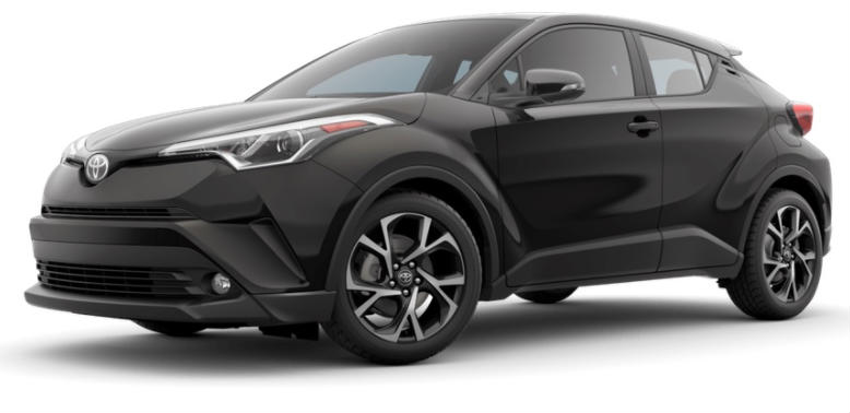 2017 Toyota CH-R color options black sand pearl
