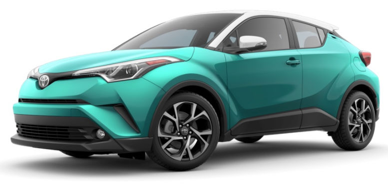2017 Toyota CH-R color option radiant green mica r-code