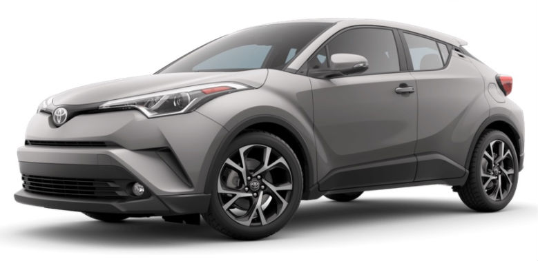 2017 Toyota CH-R color option silver knockout metallic