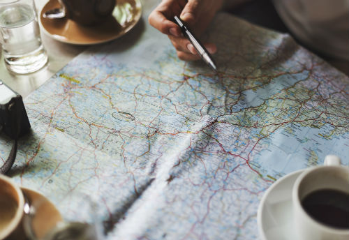 photo of a map