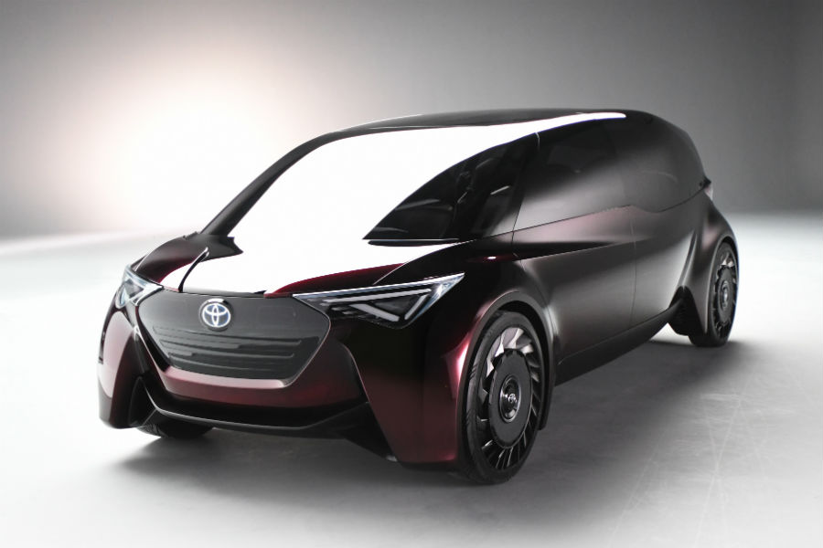 toyota fine comfort ride concept fuel cell van exterior in black on white background_o