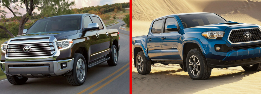 2018 Toyota Tundra and 2018 Toyota Tacoma side by side
