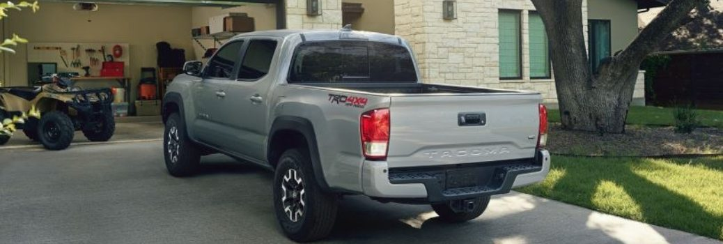 2019 Toyota Tacoma parked in a house's driveway