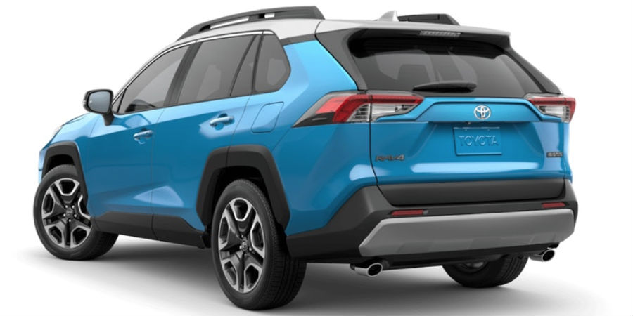 2019 Toyota RAV4 blue flame ice edge roof