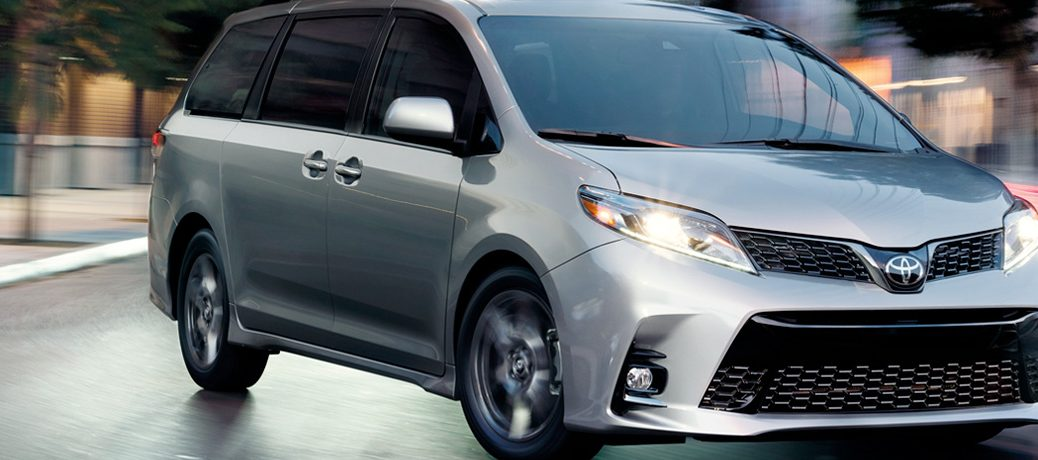 silver 2019 Toyota Sienna on a road