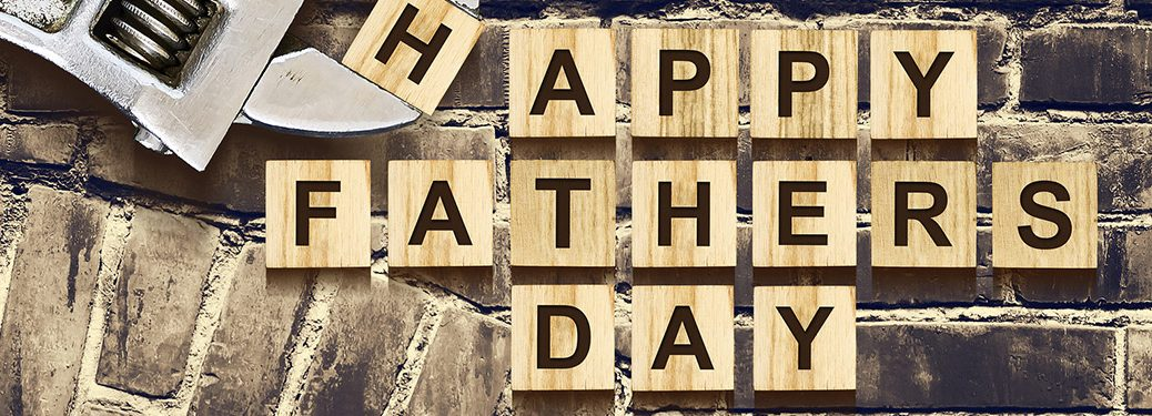 wood blocks spelling out happy father's day