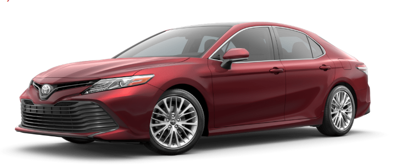 2019 Toyota Camry in Ruby Flare