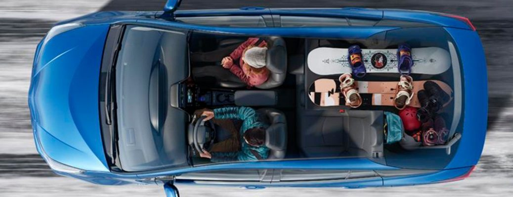 bird's eye view of the 2019 Toyota Prius