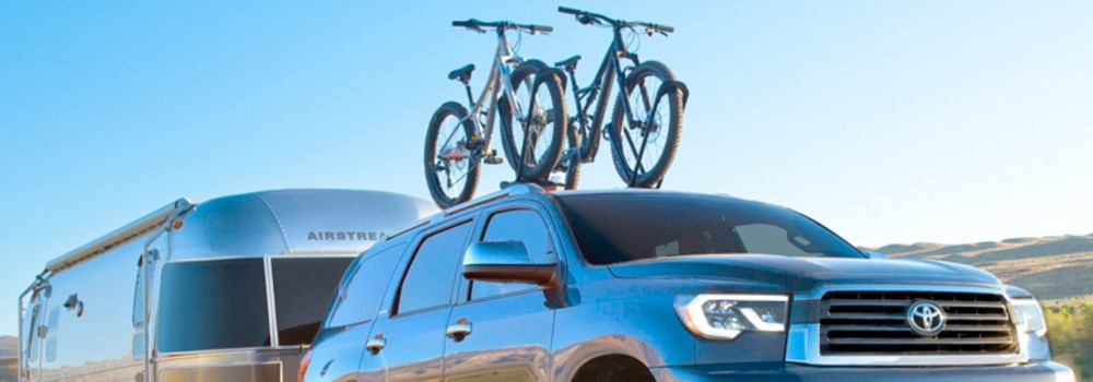 2019 Toyota Sequoia towing an air steam