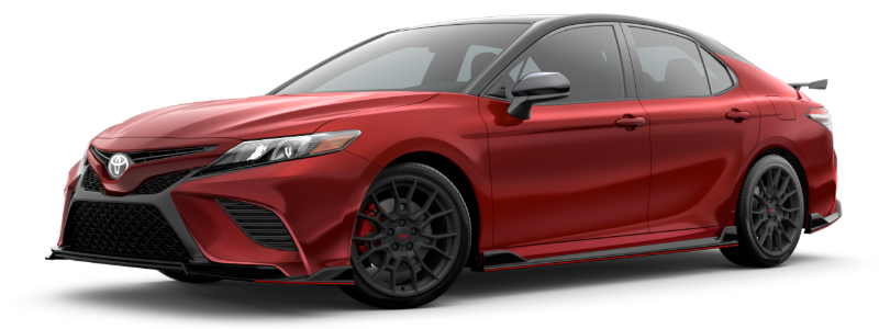 2020 Toyota Camry in Supersonic Red/Midnight Black Metallic Roof