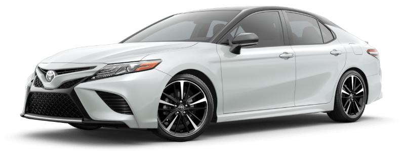 2020 Toyota Camry in Wind Chill Pearl/Midnight Black Metallic Roof