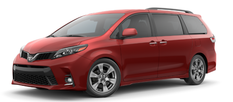 2020 Toyota Sienna in Salsa Red Pearl
