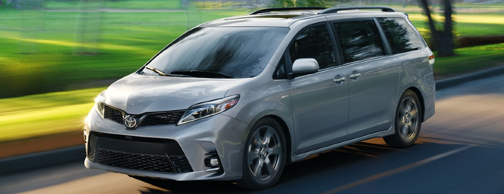 2020 Toyota Sienna driving down the road