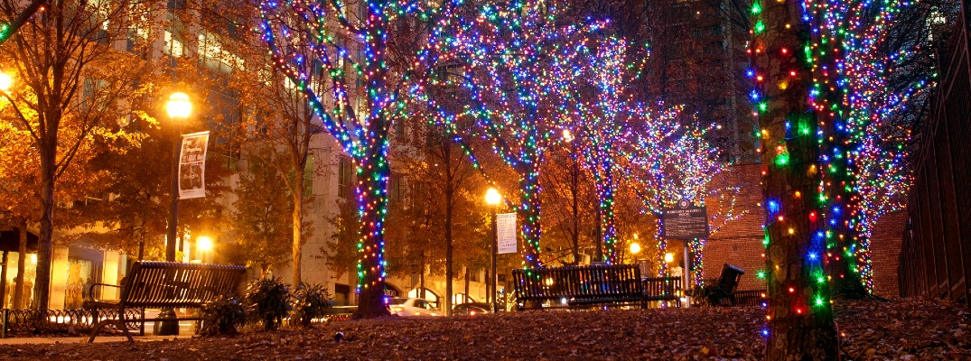 Get in the holiday spirit with some area light displays