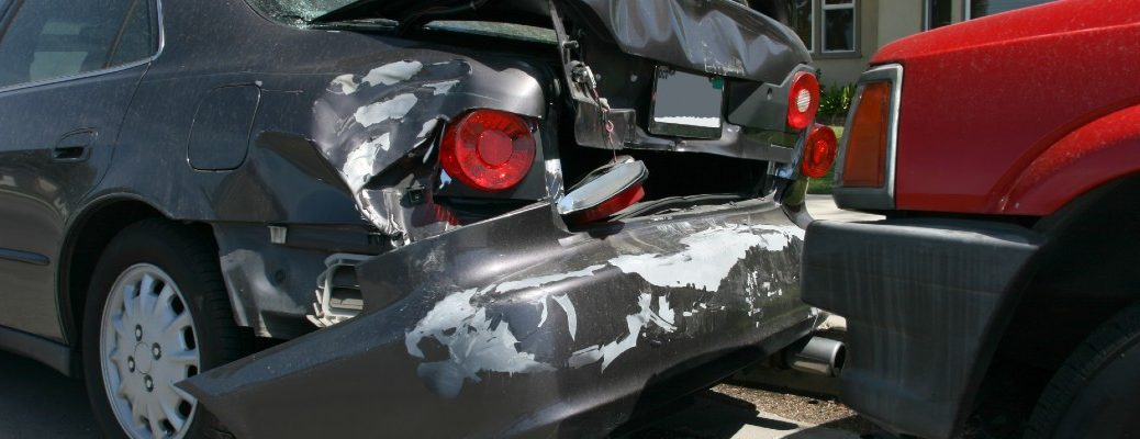 A stock photo of two cars involved in an accident.