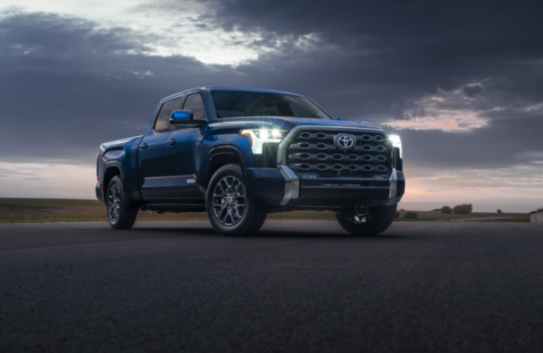 2022 Toyota Tundra parked on even surface.