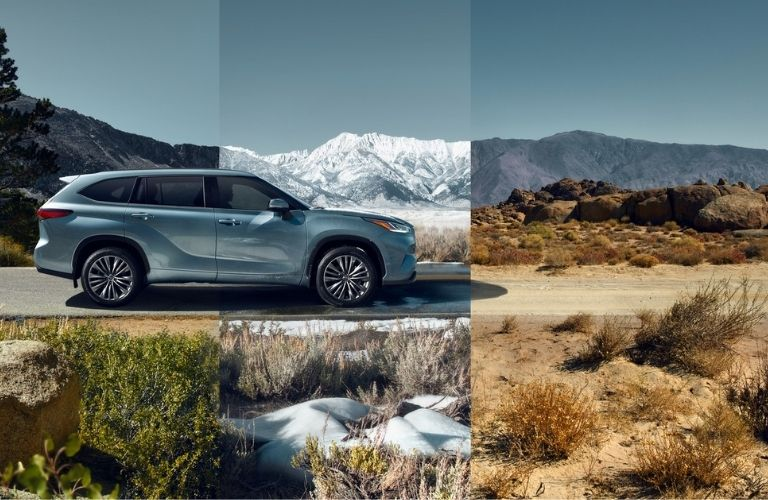 picture indicating the different 2021 Toyota Highlander drive modes