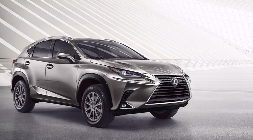 2020 Lexus NX parked in gray