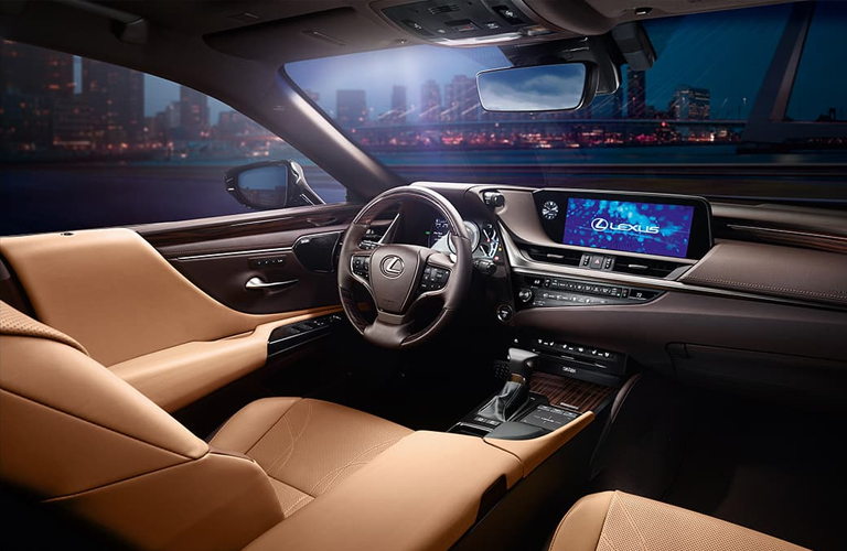 brown seats in lexus es hybrid