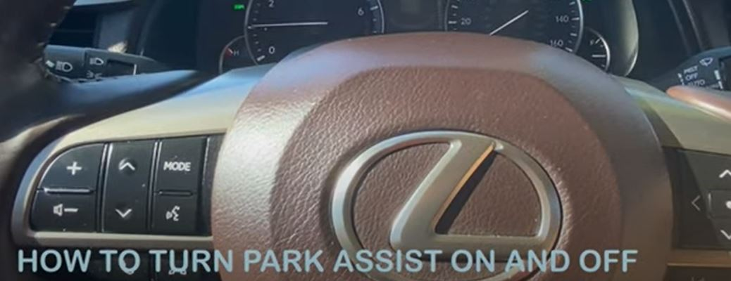 How to turn park assist on and off text image