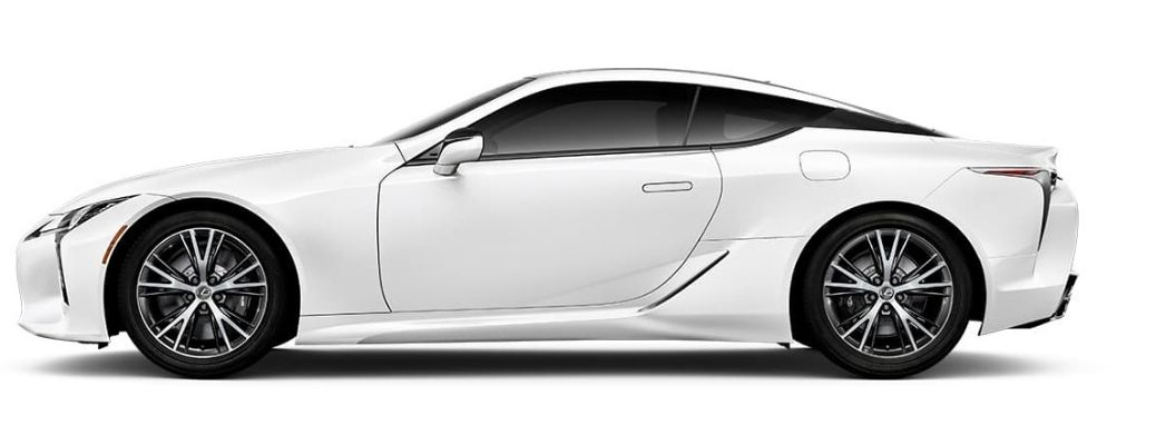 sideview of the 2021 Lexus LC
