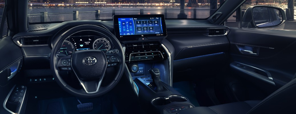 2021 Toyota Venza interior wide angle of front cabin