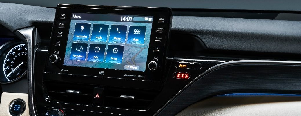 The infotainment system used in the 2021 Toyota Camry.