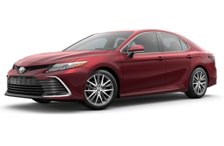 2017 Toyota Camry LE in barcelona red metallic color