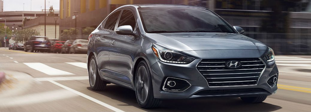 2020 Hyundai Accent driving on a city street