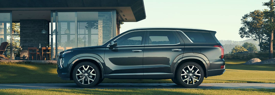 Large interior of new 2020 Hyundai Palisade SUV offers impressive passenger and cargo space