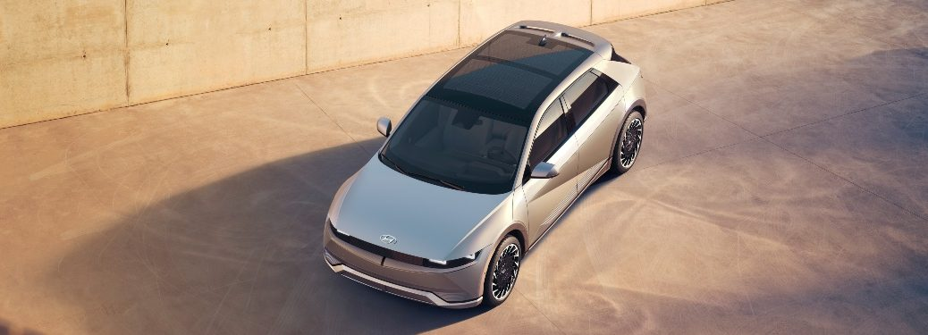 2021 IONIQ 5 exterior view from above