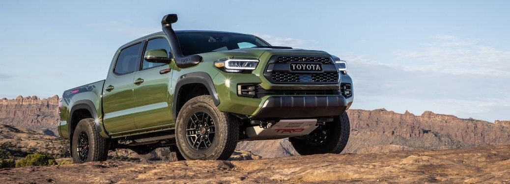 Army Green 2020 Toyota Tacoma TRD Pro on Desert Trail