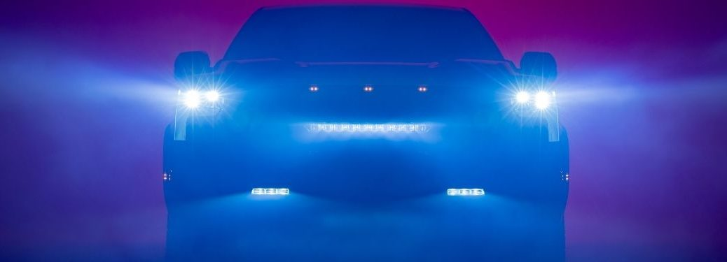 2022 Toyota Tundra in Fog with LED Headlights On