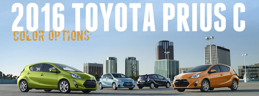 Customize the color on your 2016 Toyota Prius c