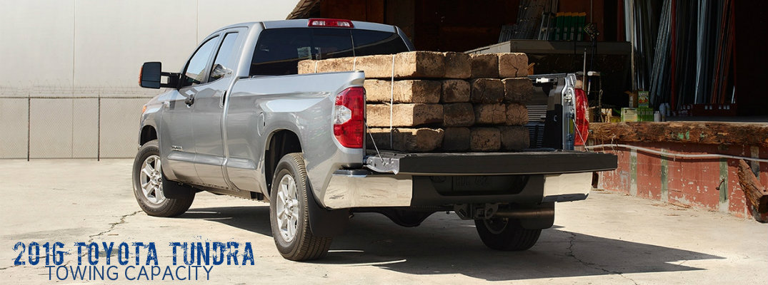 Toyota Tundra Towing Capacity >> How Much Can The 2016 Toyota Tundra Tow