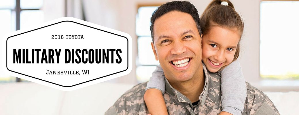Toyota military discounts Janesville, WI