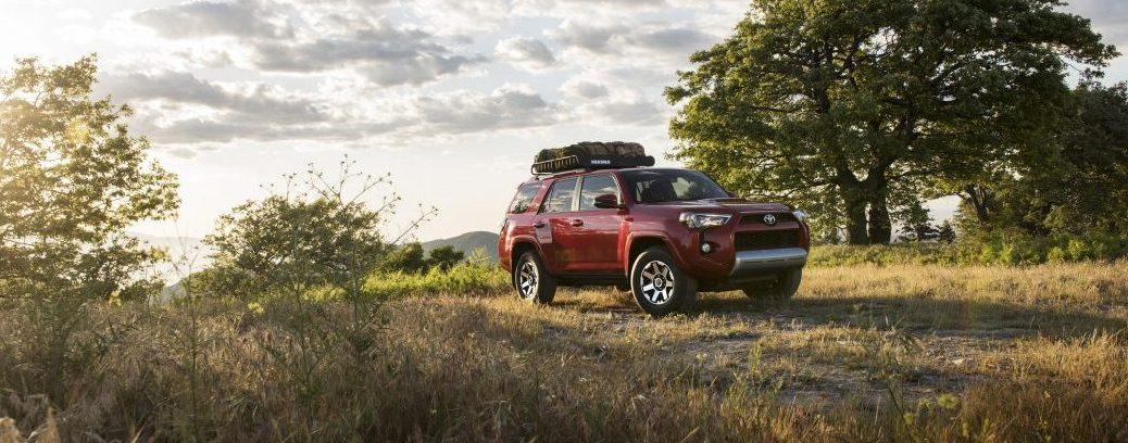 2017 toyota 4runner trd off road front red