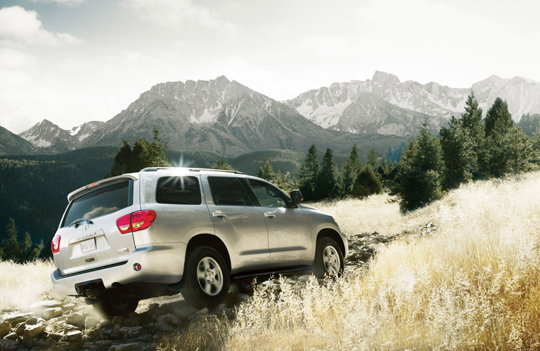 2016 toyota sequoia exterior rear off road driving
