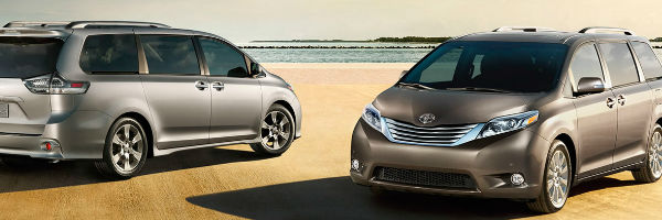 2017 Toyota Sienna Exterior View of Two Vehicles in Grey and Silver