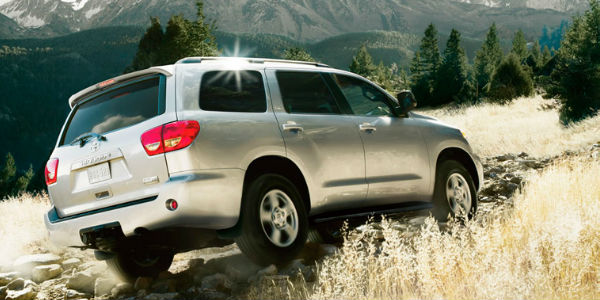 Exterior View of the 2017 Toyota Sequoia in Silver