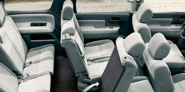 2017 Toyota Sequoia Interior View of Seats in Grey