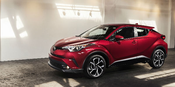 Side View of the 2018 Toyota CH-R in Red