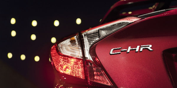View of CH-R Badge on the Rear of 2018 Toyota CH-R