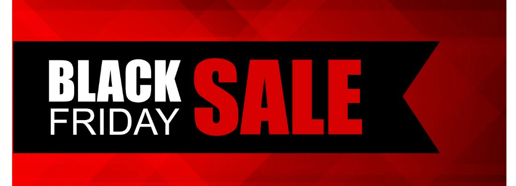 "red white and black ""black friday sale"" banner"